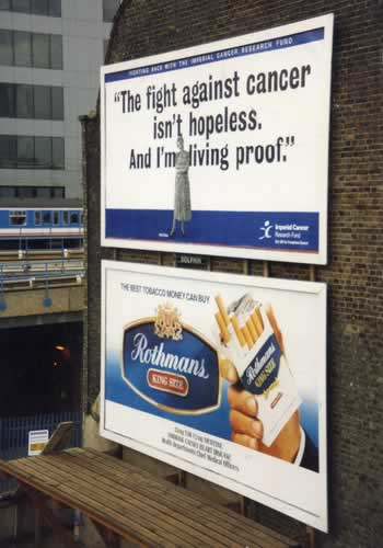 Cigarette & Anti Cigarette ads